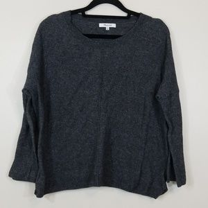 Madewell Woolblend Crewneck Gray Sweater